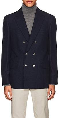 Brunello Cucinelli MEN'S PLAID WOOL DOUBLE-BREASTED SPORTCOAT