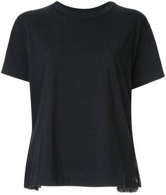 Sacai side pleated T-shirt