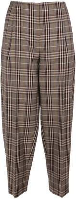 Victoria Beckham Cropped Pleated Trousers