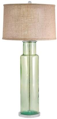 Elk Lighting Recycled Glass Cylinder LED Table Lamp In Green