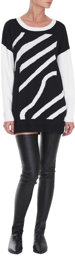 Tibi Zebra Stripe Jacquard Dress