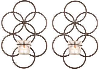 San Miguel Votive Candle Holder Wall Sconce 4-piece Set