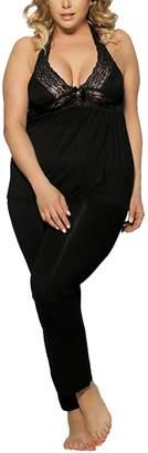Oliveya Plus Size Pajama Set Womens Sleeveless Sleepwear Soft Loungewear 3XL