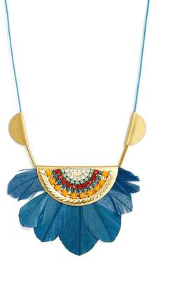 SANDY HYUN Tucson Feather Pendant Necklace