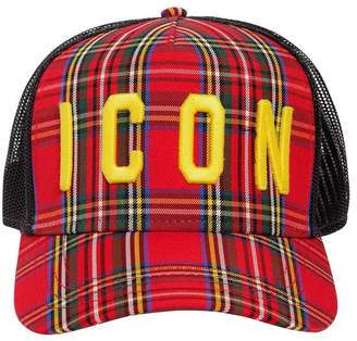 de9c4df9040dd DSQUARED2 Icon Mesh Canvas Baseball Hat