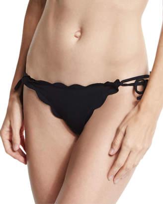 Marysia Swim Mott Tie-Side Scalloped Swim Bikini Bottom
