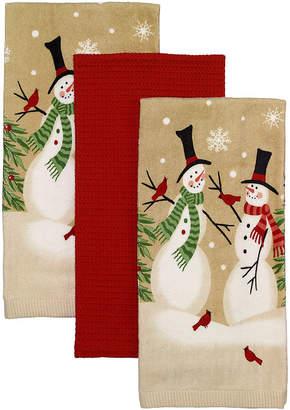 Avanti Tall Snowmen 3 Piece Kitchen Towels