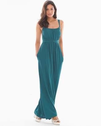 Bliss Knit Twist Waist Maxi Dress Dark Harbour RG
