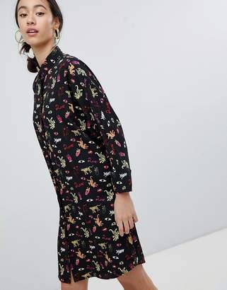 Monki Multi Emoji Shirt Dress