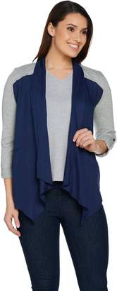 Lisa Rinna Collection Drape Front Lounge Jacket