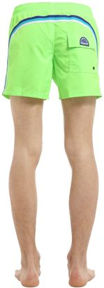 Elastic Waist Mid-Length Swim Shorts $102 thestylecure.com