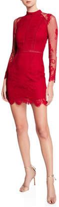 Ryse Samson Lace Long-Sleeve Cocktail Dress