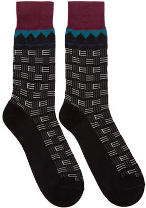 Etro Black Short Socks