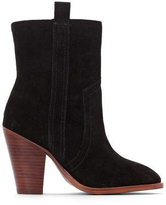 La Redoute COLLECTIONS High-Heeled Leather Cowboy Boots