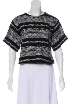 Apiece Apart Bouclé Short Sleeve Top