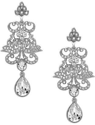 Nina Crystal Chandelier Earrings $165 thestylecure.com