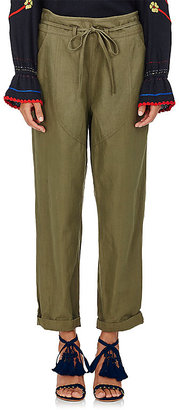 Ulla Johnson Women's Agata Cotton-Linen Paperbag-Waist Pants $265 thestylecure.com