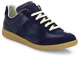 Maison Margiela Men's Replica Leather& Suede Low-Top Sneakers