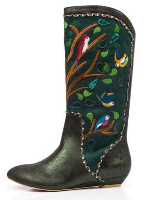 Irregular Choice Septima Embroidered Boots