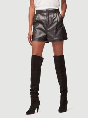 Frame Pleated Leather Culotte Short