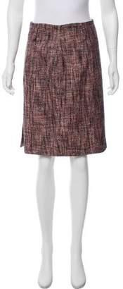 Saint Laurent Tweed Pencil Skirt