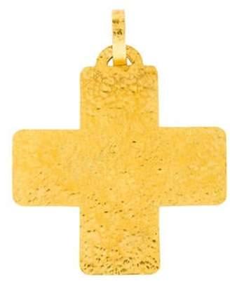 18K Square Cross Pendant yellow 18K Square Cross Pendant
