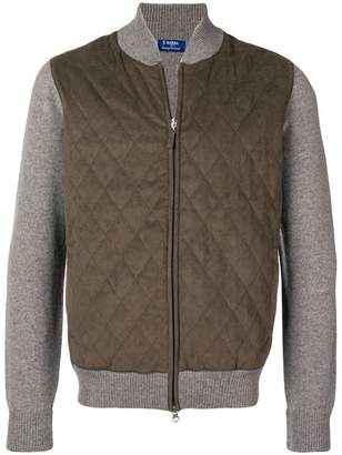 Barba quilted bomber jacket