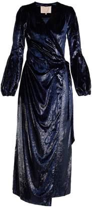Maria Lucia Hohan Assia velvet wrap dress