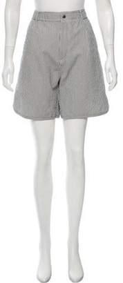 MAISON KITSUNÉ Striped Knee-Length Shorts w/ Tags