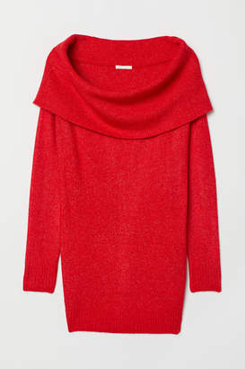 H&M MAMA Off-the-shoulder Sweater - Red