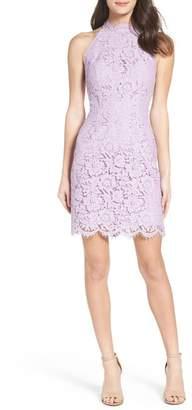 BB Dakota 'Cara' High Neck Lace Dress
