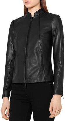 REISS Serge Leather Jacket $695 thestylecure.com