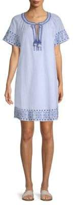 Vineyard Vines Sea Spray Stripe Tassel Cotton Dress