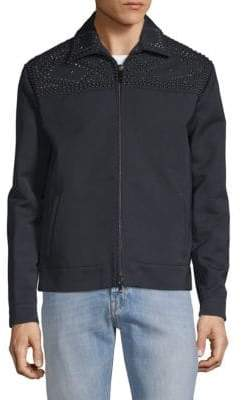 Valentino Long-Sleeve Studded Jacket