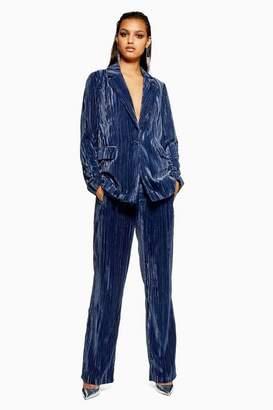 Topshop Crinkle Velvet Trousers