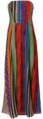 Missoni strapless embroidered dress