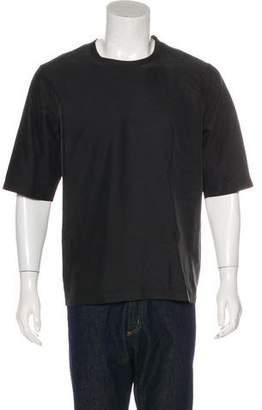 Cos Woven Crew Neck T-Shirt