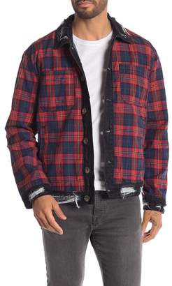 American Stitch Denim Trim Plaid Jacket