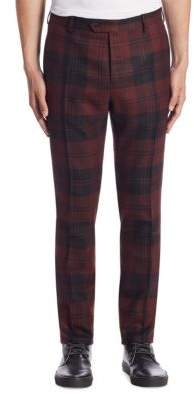 Valentino Slim-Fit Plaid Trousers
