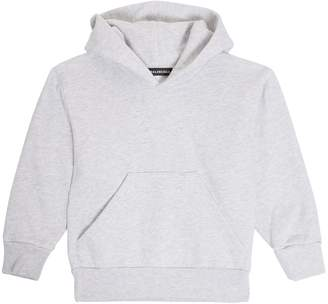 Balenciaga KIDS Unisex cotton-blend hooded sweatshirt