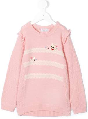 Mikihouse Miki House long sleeve ruffle sweater