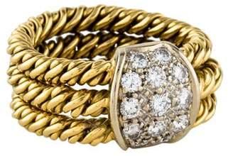 Pomellato 18K Diamond Chain Band