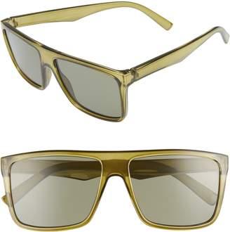 BP 56mm Small Translucent Shield Sunglasses