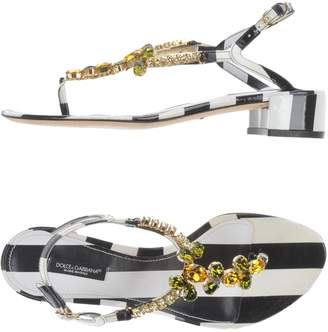 Dolce & Gabbana Toe strap sandals - Item 11462570JM