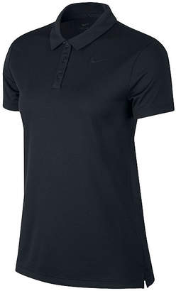 Nike Womens Short Sleeve Knit Polo Shirt