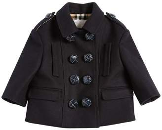 Burberry Double Breasted Wool Felt Pea Coat