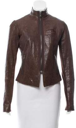 Veda Leather Structured Jacket