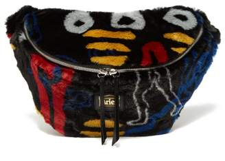 Aries X Jeremy Deller Dude Faux Fur Belt Bag - Womens - Black Multi