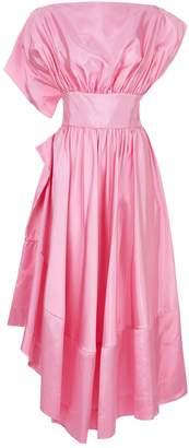 Rosie Assoulin Asymmetric Silk Dress