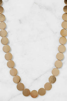 South Moon Under Brushed Gold Disk Choker